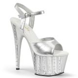 Prata 18 cm ADORE-709VLRS Plataforma sapatos de salto com strass