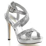 Prata Brilho 12 cm LUMINA-21 sandálias para noite de gala
