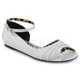Prata Cetim ANNA-03 numeros grandes sapatos bailarina