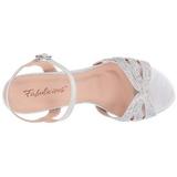 Prata Cristal 6,5 cm AUDREY-03 sandálias para noite de gala