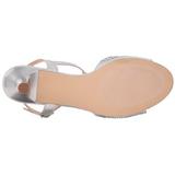 Prata Cristal 6,5 cm AUDREY-05 sandálias para noite de gala