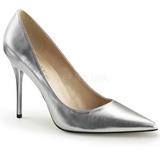 Prata Fosco 10 cm CLASSIQUE-20 Sapatos Scarpin Salto Agulha