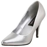 Prata Fosco 10 cm VANITY-420 scarpin de bico fino salto alto