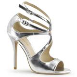 Prata Fosco 13 cm AMUSE-15 sandálias para noite de gala