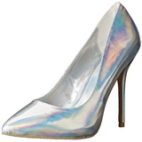 Prata Fosco 13 cm AMUSE-20 Sapatos Scarpin Salto Agulha