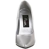 Prata Fosco 13 cm SEDUCE-420 scarpin de bico fino salto alto