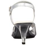 Prata Fosco 8 cm BELLE-309 Saltos Altos para Homens