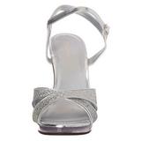 Prata Glitter 12 cm FLAIR-419G Saltos Altos para Homens
