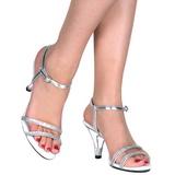 Prata Glitter 8 cm BELLE-316 Sandália Feminina Salto Alto