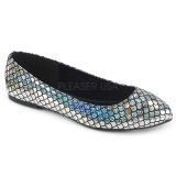 Prata MERMAID-21 sapatos de bailarinas baixos