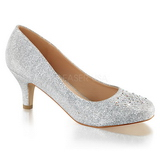 Prata Pedras Cristal 6,5 cm DORIS-06 sapato scarpin para noite de festa