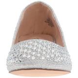 Prata TREAT-06 pedra cristal sapatas da bailarina mulher baixos altos