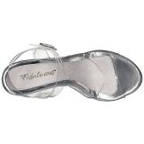 Prata Transparente 13 cm COCKTAIL-508 Plataforma Sandálias Salto Agulha