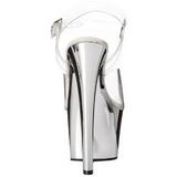 Prata Transparente 18 cm SKY-308 Plataforma Salto Agulha