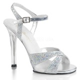 Prata brilho 11,5 cm Fabulicious GALA-19 sandálias de salto alto mulher