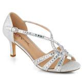 Prata brilho 6,5 cm Fabulicious MISSY-03 sandálias de salto alto mulher