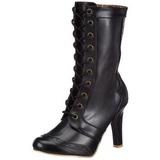 Preto 10,5 cm TESLA-102 botinha femininos com cadarco salto alto