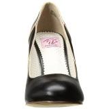 Preto 10 cm SMITTEN-04 Pinup sapatos scarpin com saltos baixos