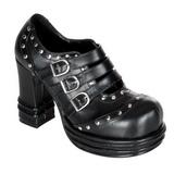 Preto 10 cm VAMPIRE-08 sapatos de mulher plataforma alternativos grossas
