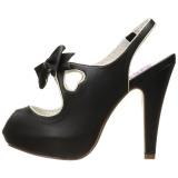 Preto 11,5 cm BETTIE-03 Pinup sapatos scarpin de plataforma oculta