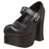 Preto 11,5 cm CHARADE-05 calçados gotico lolita