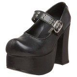 Preto 11,5 cm CHARADE-05 sapatos lolita calçados gotico mulher solas grossas