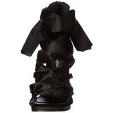 Preto 11,5 cm CHIC-26 Sandálias Salto Agulha Femininos
