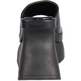 Preto 11,5 cm PACE-01 Plataforma Goticas Sandálias Dedo Mulheres