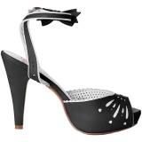Preto 11,5 cm Pinup BETTIE-01 sandálias de salto alto mulher