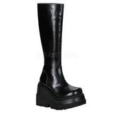 Preto 11,5 cm SHAKER-100 botas de mulher plataforma góticos
