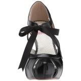 Preto 11,5 cm retro vintage BETTIE-19 calçados femininos com salto alto