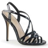 Preto 13 cm Pleaser AMUSE-13 sandálias de salto alto mulher
