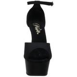 Preto 15 cm DELIGHT-618PS calçados femininos com salto alto
