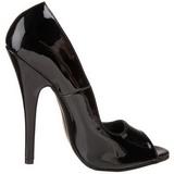 Preto 15 cm DOMINA-212 calçados femininos com salto alto