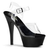 Preto 15 cm Pleaser KISS-208 Plataforma Sapatos Salto Alto