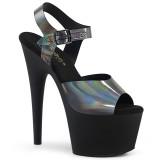 Preto 18 cm ADORE-708N-DT Holograma plataforma salto alto mulher