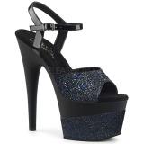Preto 18 cm ADORE-709-2G brilho plataforma sandálias mulher