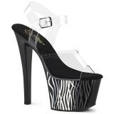 Preto 18 cm Pleaser SKY-308CP-2 sandálias de saltos pole dance