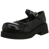 Preto 5 cm CRUX-07 calçados gotico lolita