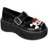 Preto 5 cm EMILY-221 sapatos de mulher plataforma alternativos grossas