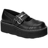 Preto 5 cm EMILY-306 sapatos de mulher plataforma alternativos grossas