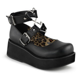 Preto 6 cm SPRITE-02 sapatos lolita gotico calçados com solas grossas