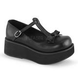 Preto 6 cm SPRITE-03 sapatos lolita gotico calçados com solas grossas