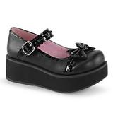 Preto 6 cm SPRITE-04 sapatos plataforma alternativos