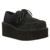 Preto 7,5 cm CREEPER-202 sapatos creepers mulher