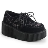 Preto 7,5 cm CREEPER-219 sapatos creepers mulher