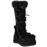 Preto 7 cm CUBBY-311 botas de mulher plataforma góticos