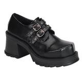 Preto 7 cm TRUMP-101 sapatos de mulher plataforma alternativos grossas