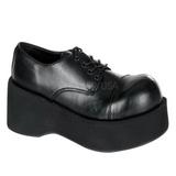 Preto 8,5 cm DANK-101 sapatos de mulher plataforma alternativos grossas