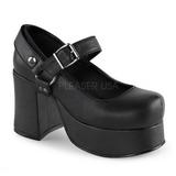 Preto 9,5 cm ABBEY-02 sapatos lolita gotico calçados solas grossas